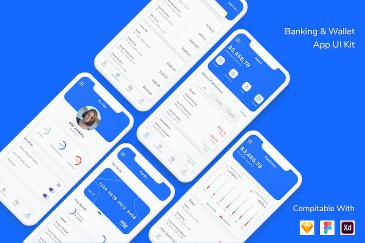 Thumbnail for Kit d'interface utilisateur de Appli bancaire et portefeuille