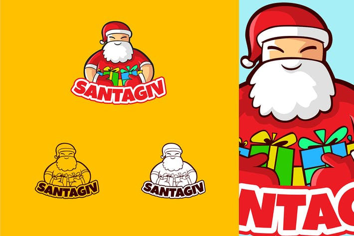 Thumbnail for SANTAGIV - Mascot & Esport Logo