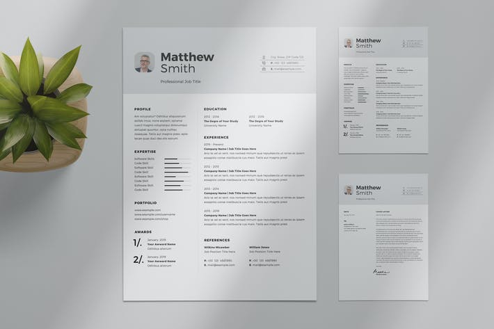 Cover Image For Minimalist Resume Layout