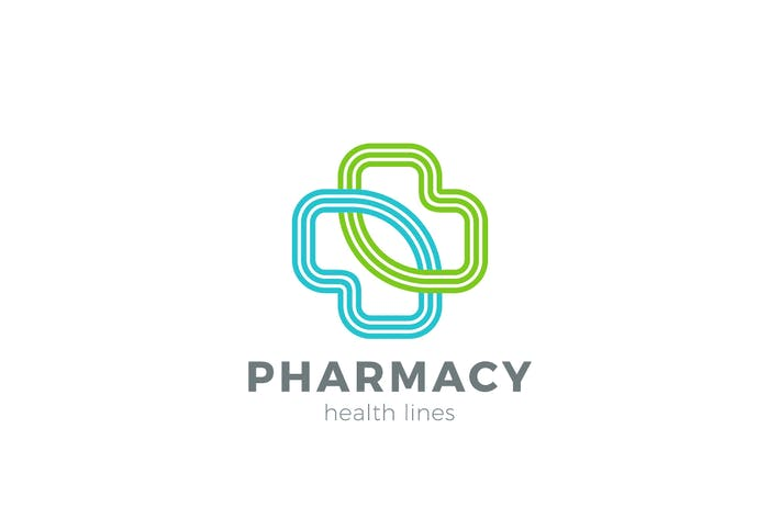 Thumbnail for Logo Pharmacy Medical Clinic Cross
