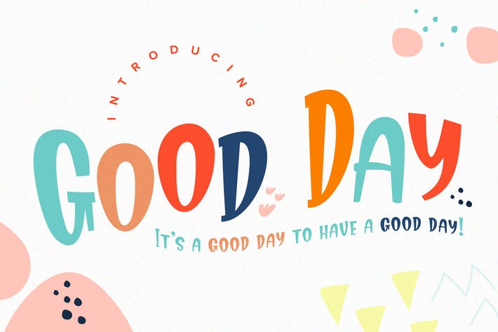 Thumbnail for Good Day Fun Display Font