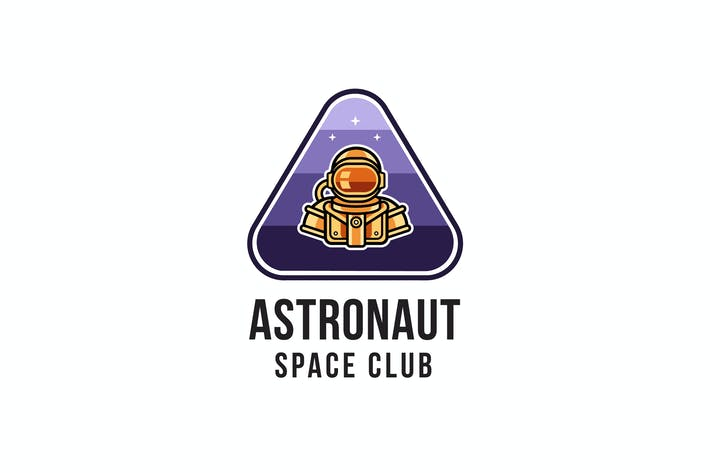 Thumbnail for Astronaut Space Club Logovorlage