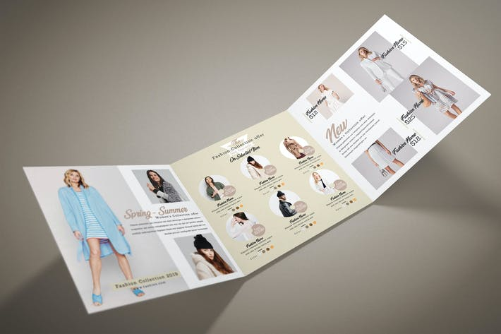 Thumbnail for Fashion Square Trifold Brochure
