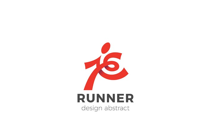 Thumbnail for Running Man Sport Delivery Logo