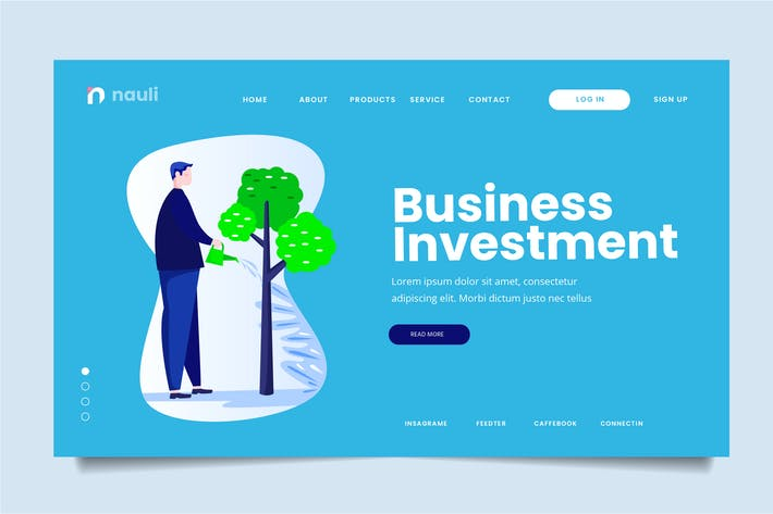 Thumbnail for Business Investment Web Header PSD und AI Vektor