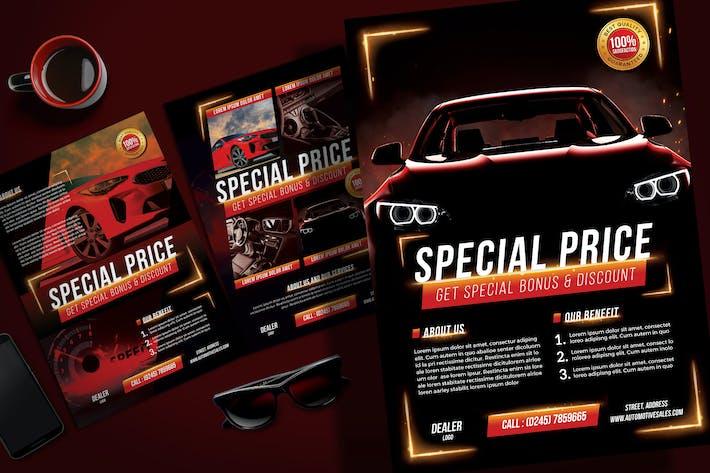 Auto Verkauf Flyer