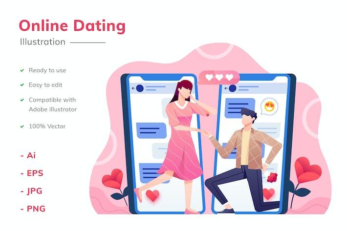 Thumbnail for Online Dating Illustration