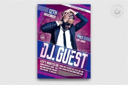DJ Guest Flyer Template V1