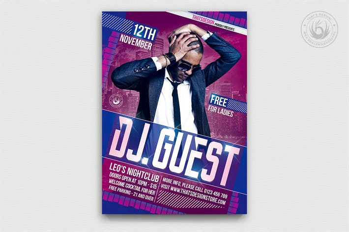Thumbnail for DJ Guest Flyer Template V1
