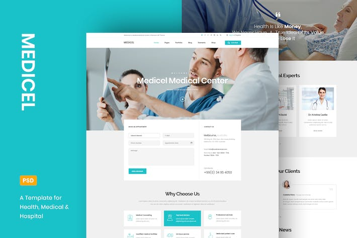 Thumbnail for Medicel - Health & Medical PSD Template