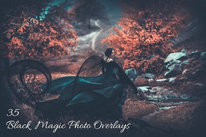 Thumbnail for 35 Black Magic Photo Overlays