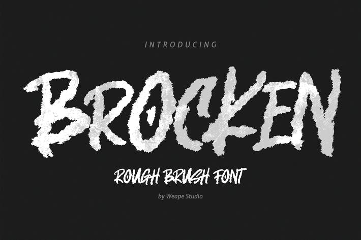 Brocken - Caps Rough Font