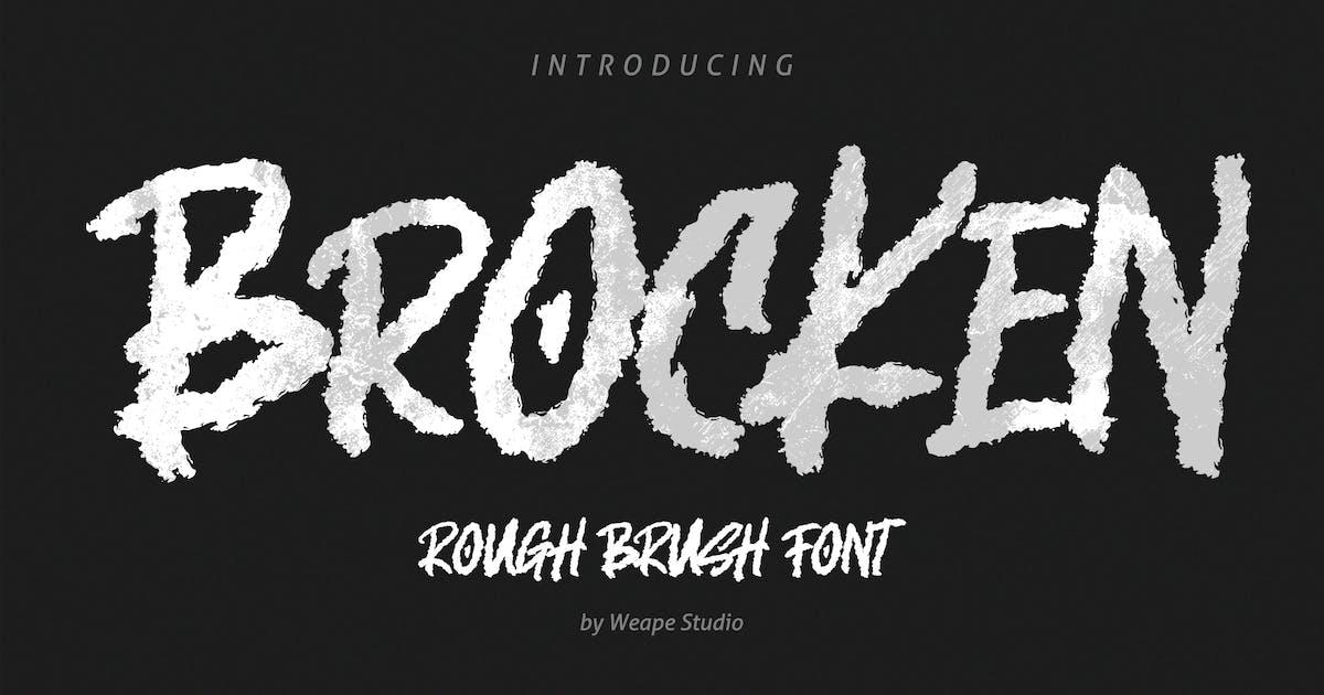 Download Brocken - Caps Rough Font by weapedesign