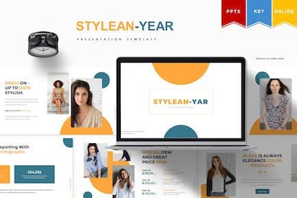 Stylean - year   Powerpoint, Keynote, Googleslide