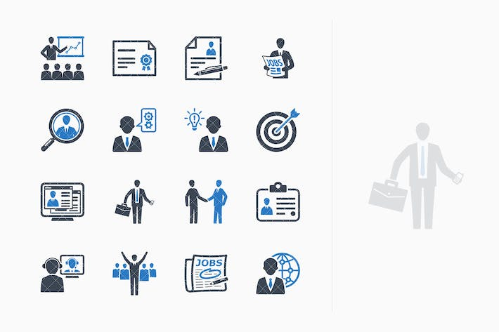 Thumbnail for Employment & Business Icons - Blue Series
