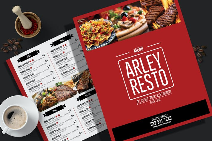 Simple Restaurant Menu Flyer