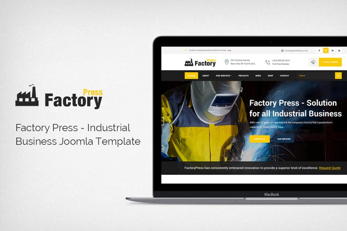 FactoryPress - Industrial Business Joomla Template