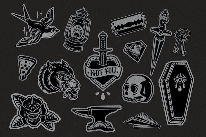 Thumbnail for Flash Tattoo Vector Pack