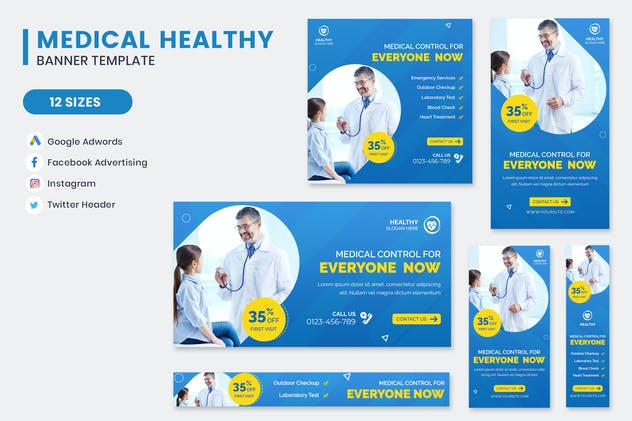 Medical Healthy Care Banner Template