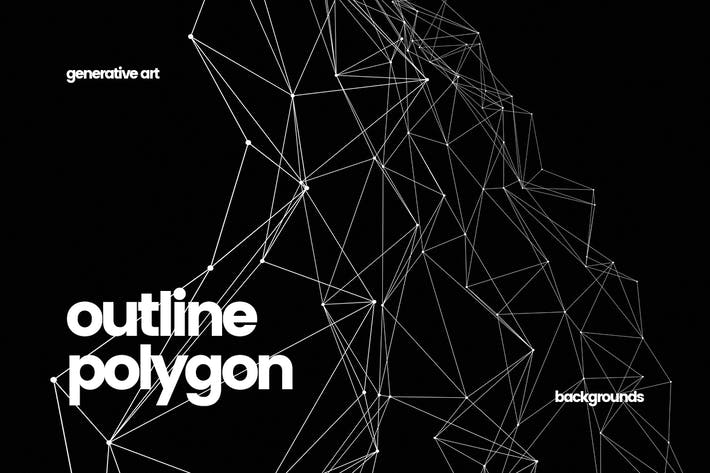 Thumbnail for Outline Polygon with Connected Dots Backgrounds