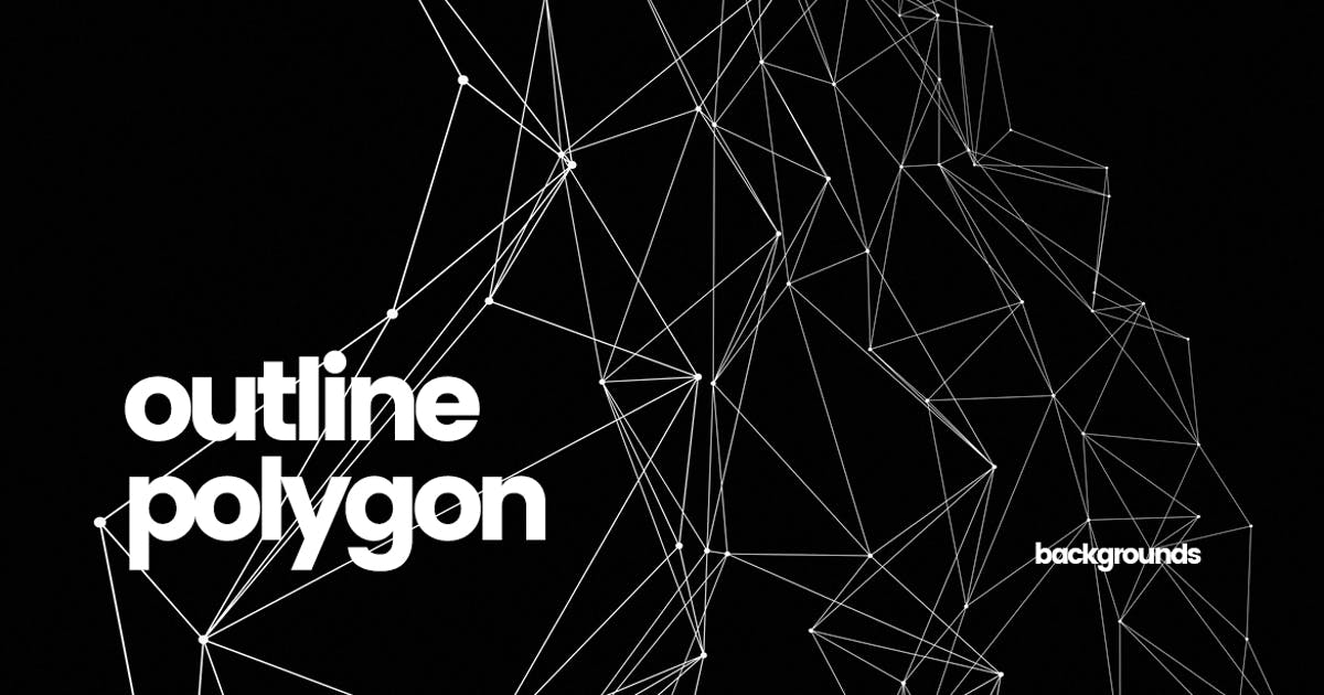 Download Outline Polygon with Connected Dots Backgrounds by themefire