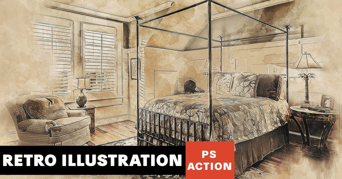Download Retro Illustration Photoshop Action by AB-Designer