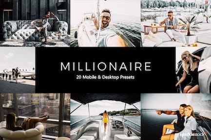 20 Millionaire Lightroom Presets & LUTs