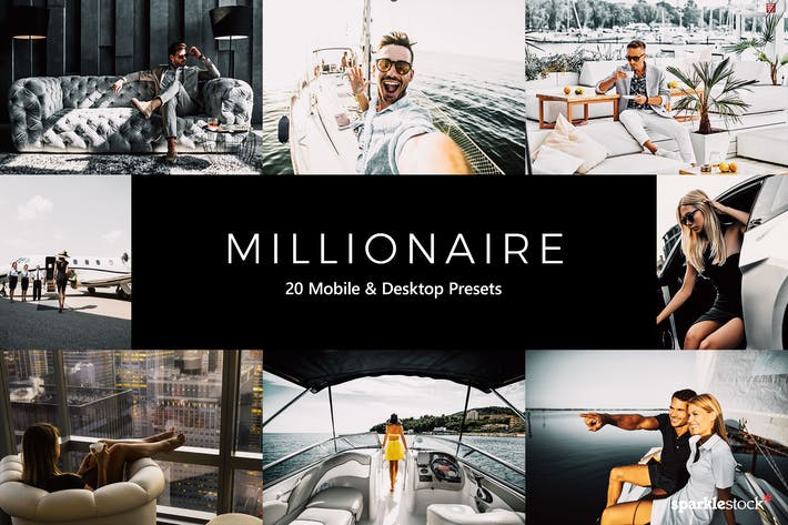 Thumbnail for 20 Millionaire Lightroom Presets & LUTs