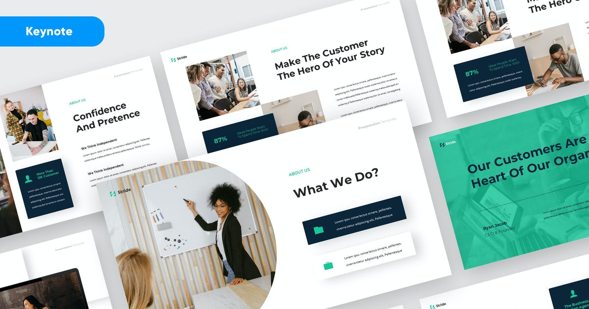 Download STRIDE - Business Marketing Keynote Template by rgbryand