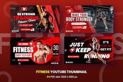 Fitness Youtube Thumbnail Template