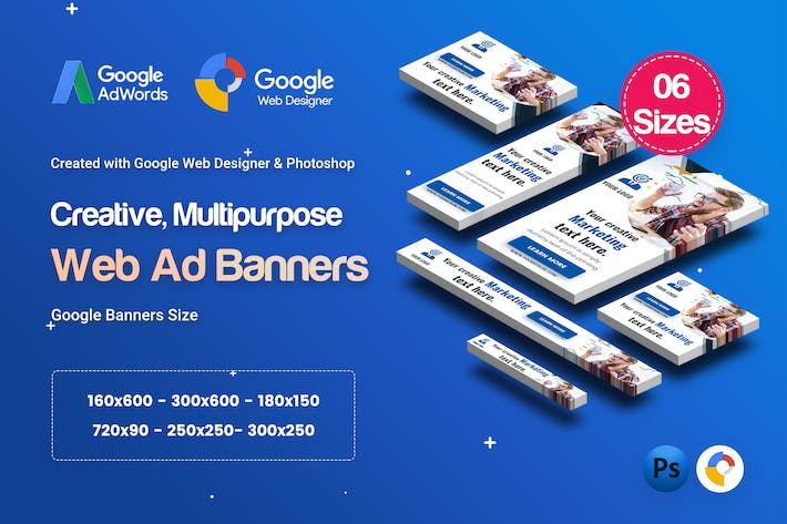 Thumbnail for C76 - Multipurpose, Creative Banners GWD & PSD