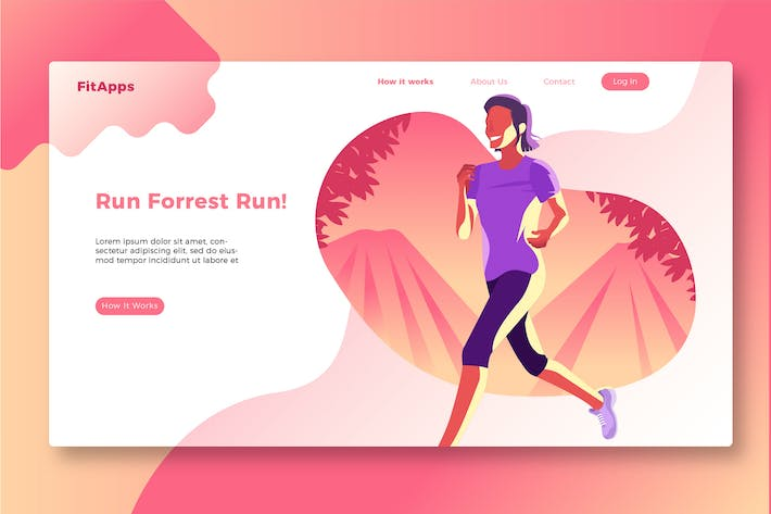 Thumbnail for Jogging - Banner & Landing Page