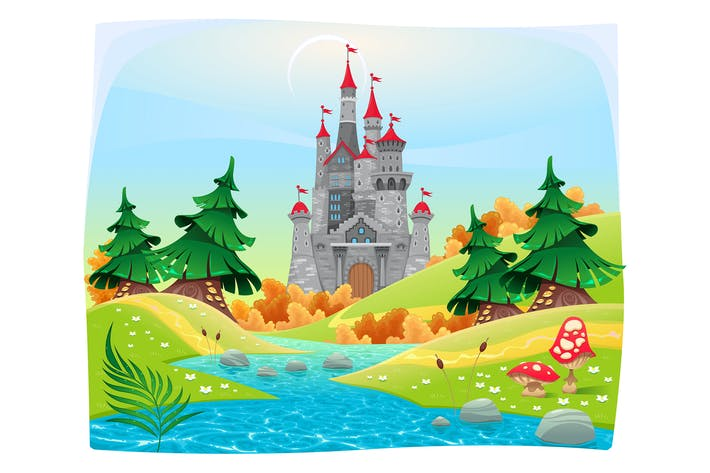 Thumbnail for Mythological Landscape with Medieval Castle