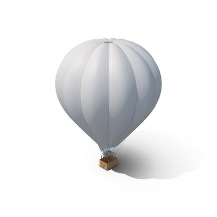Weißer Heißluftballon