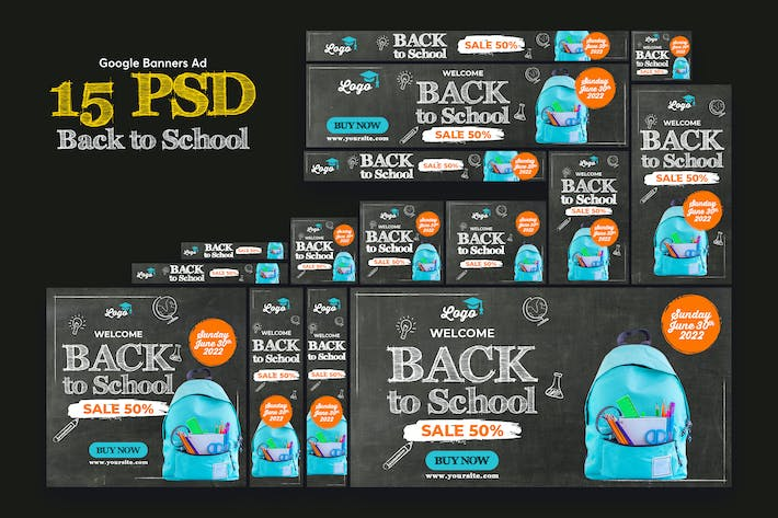 Thumbnail for Back to School Banners Ad