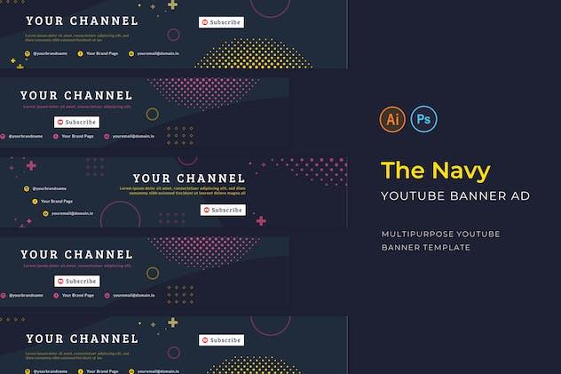 Navy Youtube Channel Art