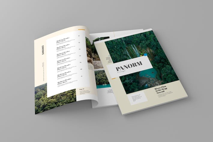 Thumbnail for Panorm - Magazine Template