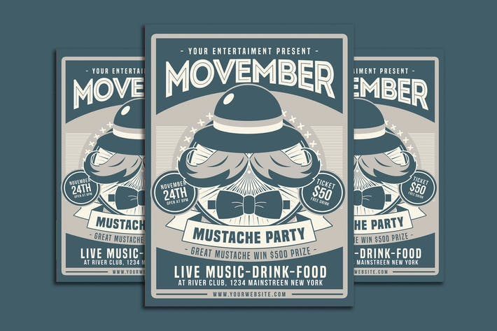 Thumbnail for Movember Mustache Party