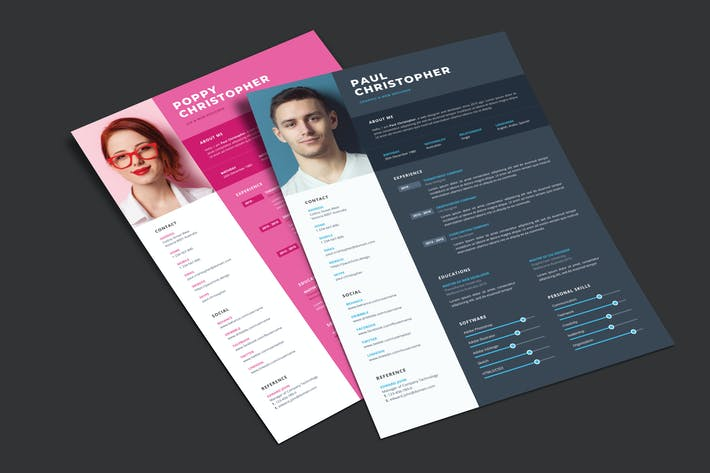 Resume CV Print Template 02