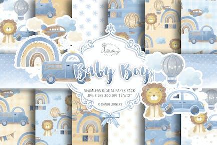 Baby Boy Digitalpapier Pack