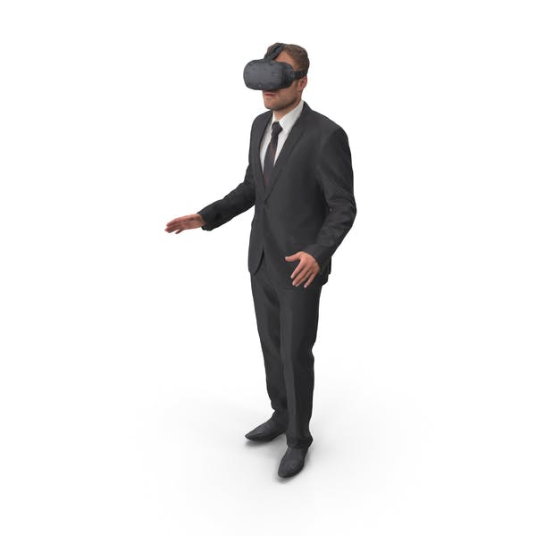Man Posed With VR