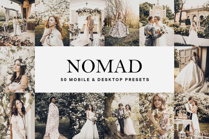 Thumbnail for 50 Nomad Lightroom Presets and LUTs