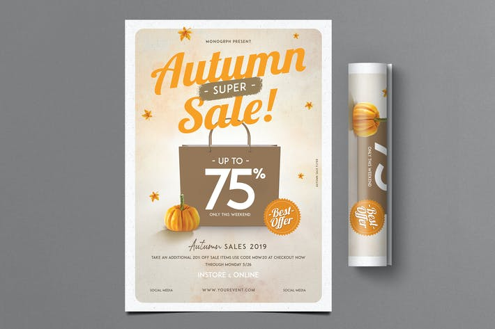 Thumbnail for Autumn Sale Flyer