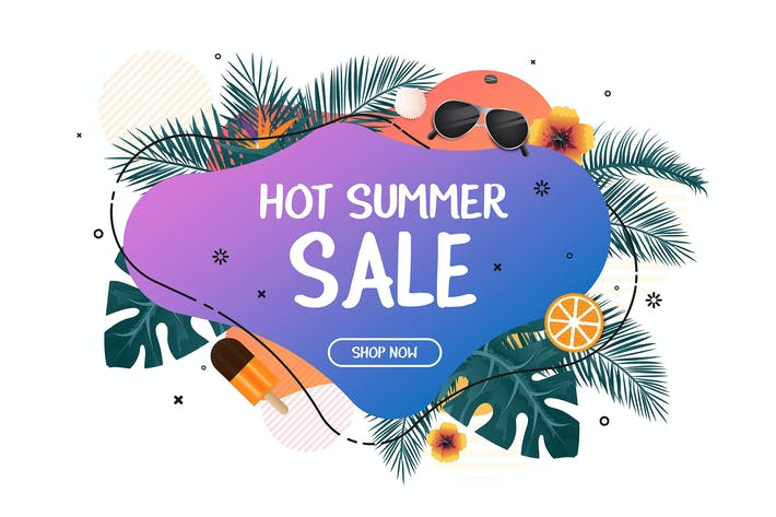 Thumbnail for Summer Sale promo web banner