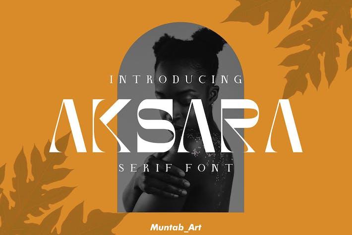 Akasara | Fuente Con serifa moderna