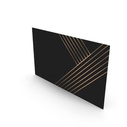 Fancy Visitenkarten-Mockup-Linien