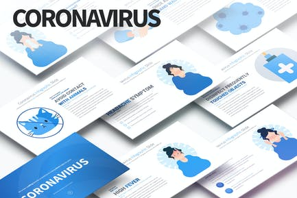 Coronavirus - PowerPoint Infographics Slides