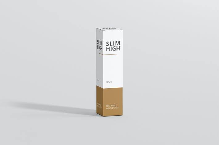 Thumbnail for Box Mockup - Slim High Rechteck