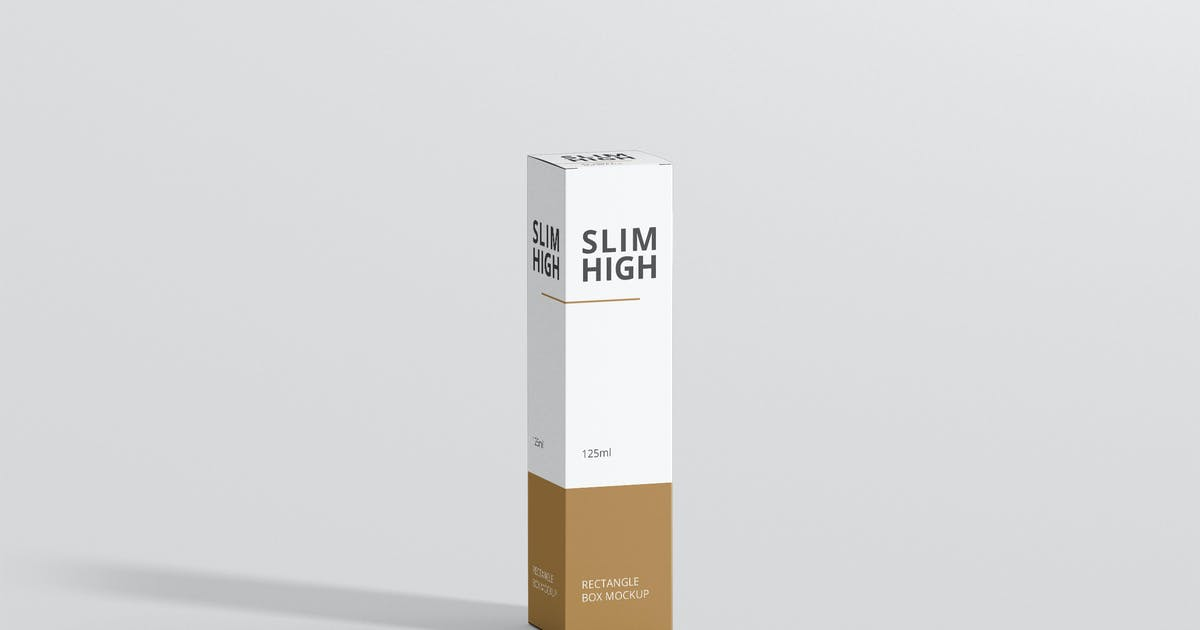 Download Box Mockup - Slim High Rectangle by visconbiz