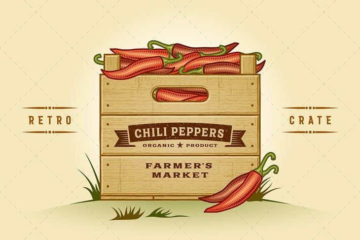 Thumbnail for Retro Crate of Chili Peppers